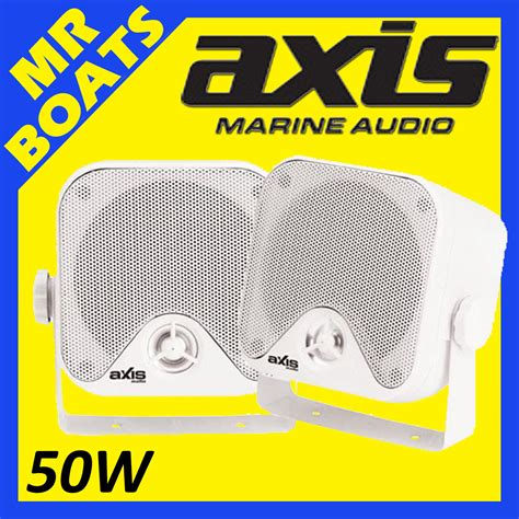 Axis Boats Ebay by 2x Axis 4 Quot Marine Box Speakers 50w Surface Mount 4 Boats