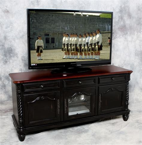 Black Tv Credenza - dcv 6330 real wood black tv credenza great for hdtv and