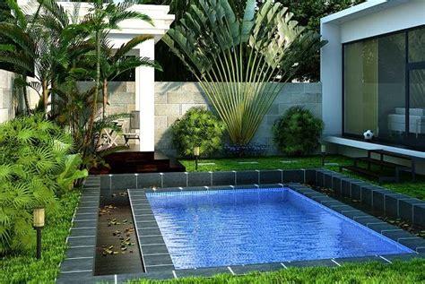 desain kolam renang kecil modern terbaru desain properti