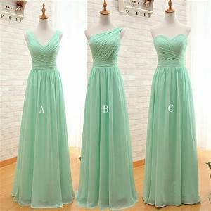mint green long chiffon bridesmaid dress under 50 pleated With mint green dresses for wedding
