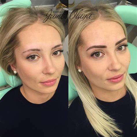 maquillage permanent avant apres tatouage sourcils en