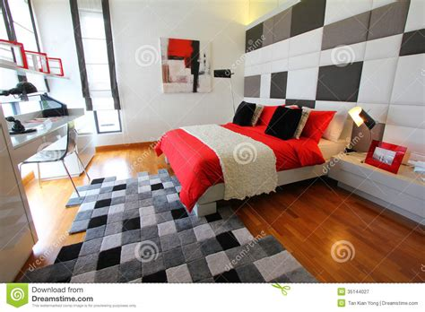 clean modern bedroom royalty  stock photography