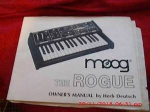 Moog Rogue Owners Manual And Tech Guide For Sale Online