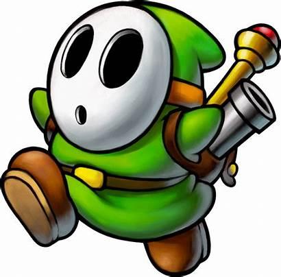 Shy Mario Guy Sergeant Luigi Story Inside