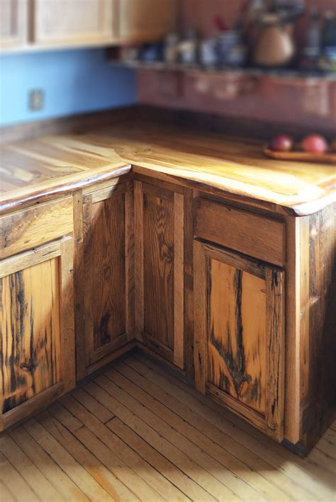 custom  edge oak  rustic front facing kitchen