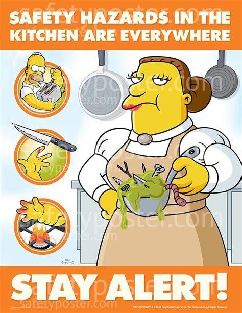 Kitchen Hazards Safety Poster   Simpsons