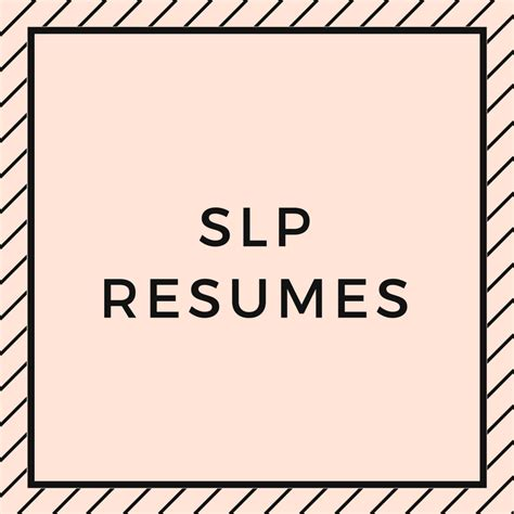 Slp Resume by Slp Resumes Speech And Language