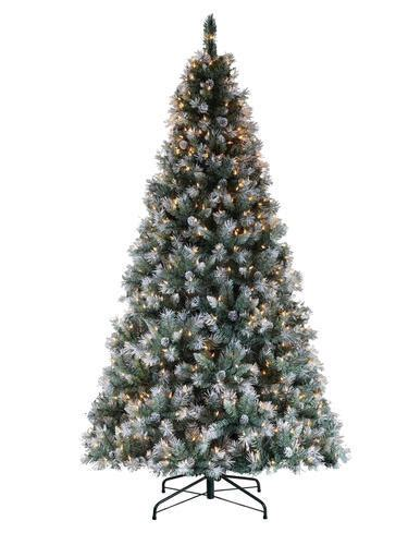 menards artificial trees 7 prelit frosted pine tree at menards 174