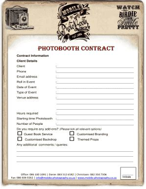 pdffiller photo booth fill  printable fillable