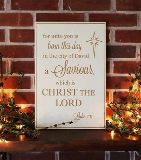 christmas wood sign     born  saviour luke
