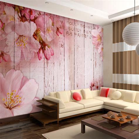 Mit Fototapete by Fototapete Holz Optik Bretter Vlies Tapete Blumen Wandbild