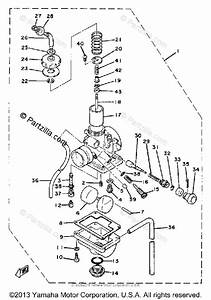 Yamaha Motorcycle 1980 Oem Parts Diagram For Carburetor