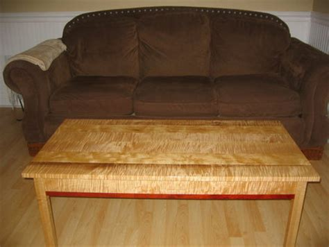 coffee table  curly maple  padauk  konquest