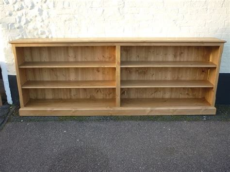 Long Bookshelf Long Low Bookcase  Design Furniture