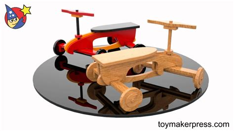 wood toy plans quick easy rocket ryder ride  car