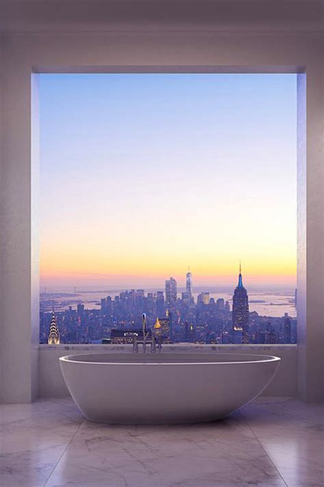 beautiful bathroom sunset view homemydesign