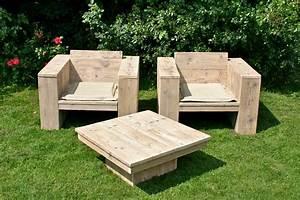 Salon Exterieur En Bois : mobilier d 39 ext rieur en bois ~ Premium-room.com Idées de Décoration