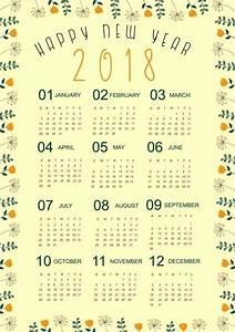 2018 달력 서식 파일 자연 꽃 테두리 장식-벡터 꽃-무료 벡터 무료 다운로드