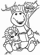 Barney Coloring Pages Animal sketch template