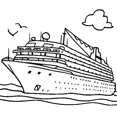 Outline Of Boat To Colour by Ship Outline Drawing Www Pixshark Images Galleries