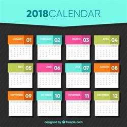 calendar design 2018 calendar template in flat design vector free