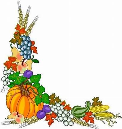 Fall Border Clipart Harvest Clip Festival Corner