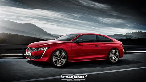 Peugeot 508 Coupe Rendering Doesn't Look As Good As Sedan