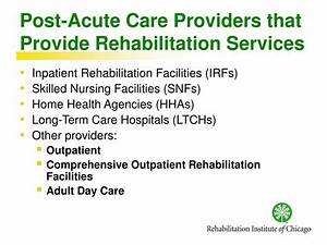 PPT - Access to Post-Acute Care for Persons who Need ...