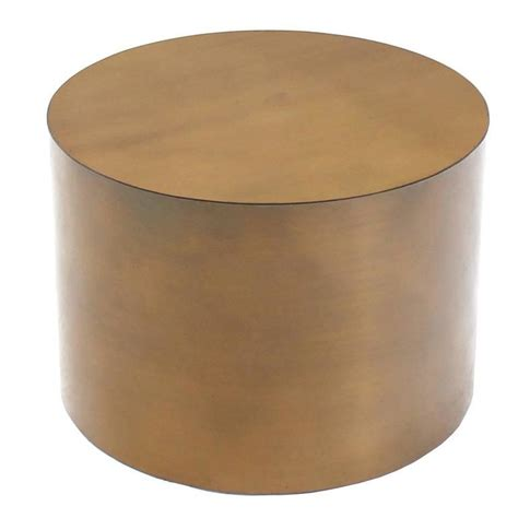 bronze round coffee table brass or bronze cylinder side round coffee table base