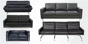 15 best high quality genuine real leather sofa couches for Genuine black leather sectional sofa