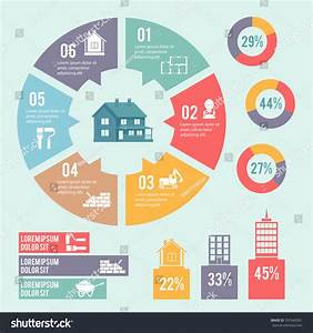 Construction Engineering Building Infographic Elements