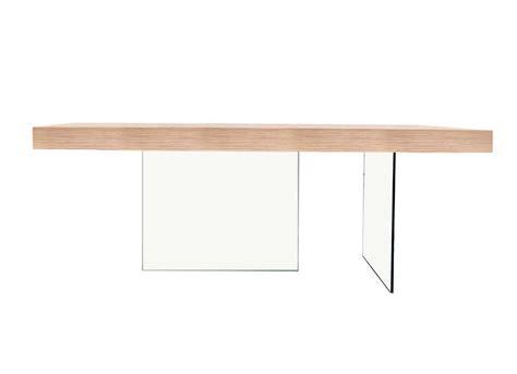 plateau de bureau en verre table rectangulaire en bois et verre infinity achatdesign