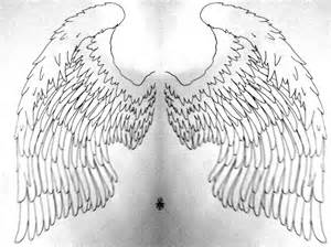 Angel Wings Tattoo Outline Designs
