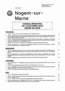 Bricorama Nogent Sur Marne : ordre du jour conseil municipal du 18 octobre 2010 nogent ~ Dailycaller-alerts.com Idées de Décoration