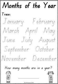 months of the year worksheets qld beginners font by my