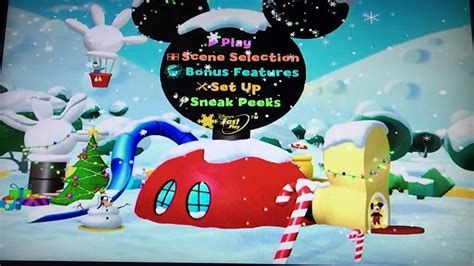 Mickey Saves Santa 2006 Dvd Menu