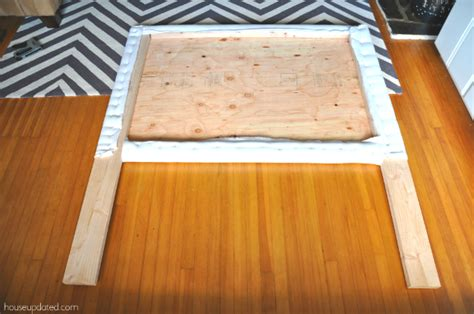 How To Build An Upholstered Headboard by How To Make A Nailhead Upholstered Headboard House Updated