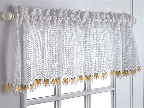 19 Cool Patterns For Crochet Curtains 90 Curtain Panels Pink And Cream Curtains Easy Kitchen Black Our Call Playhouse Wide Thermal The Arc Shower Rod Fine Art