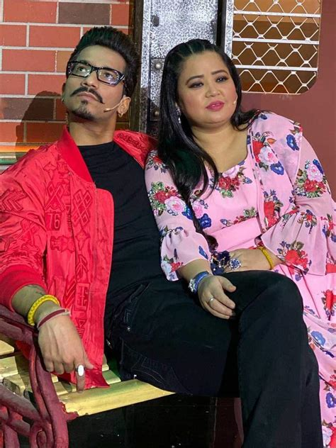 Comedian Bharti Singh and husband Haarsh Limbachiyaa ...