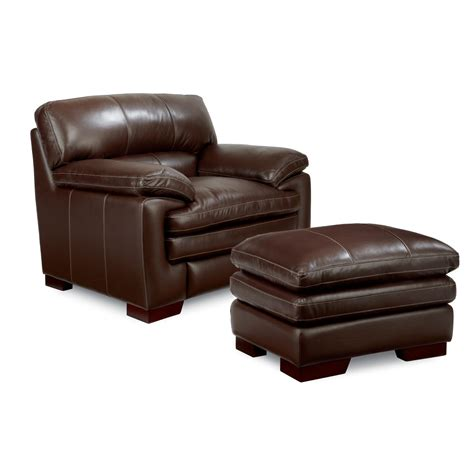 casual upholstered stationary chair  ottoman set  la