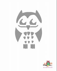 Cute owl stencils free printable for Printable owl stencil
