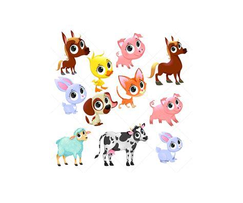 Download icon font or svg. Farm animal vector set - farm baby animals vector. Vector ...
