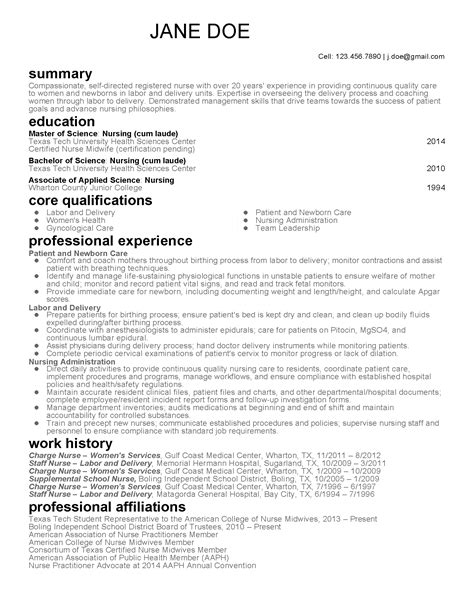 Midwife Resume by Professional Midwife Templates To Showcase Your Talent