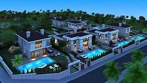 Fondos de Pantalla 4000x2252 Casa Mansión Noche 3D ...