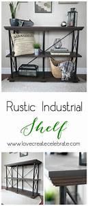 Rustic Industrial Shelf - Love Create Celebrate
