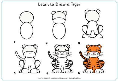تعليم الطفل طريقة رسم الحيوانات وبعض الاشكال بالخطوات مصورة