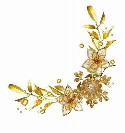 Golden Ribbon Birthday Valent Divider Flower Frame