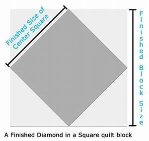 Sparkly Diamond In A Square Quilt Block  Multiple Sizes