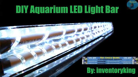 build  diy aquarium led light bar inexpensive