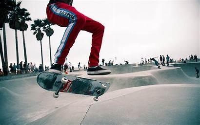 Skater Skate Jump Boy Background 4k Trendy